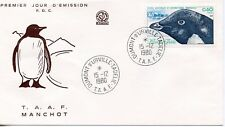 FDC / T.A.A.F. TERRES AUSTRALES TIMBRE N° 87 / FAUNE /