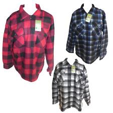 Herren Holzfällerjacke Jacke warm gefüttert blau rot weiß schwarz M L XL XXL