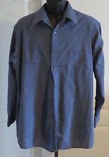 Mens Etienne Aigner Blue Dress Shirt 17 Neck 32/33 Sleeve Button Down