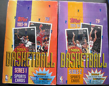 NBA Basketball Topps 1993-94 SeriesI+II Trading Card Box Hit in every Pack!