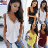 Womens Sexy V Neck Lace Vest Sleeveless Tank Tops Blouse Summrt Crop Tops Shirt