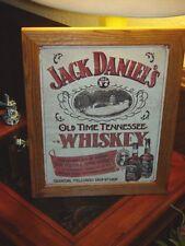JACK DANIELS TENNESSEE WHISKEY SIGN CUSTOM MAN CAVE CEDAR FRAMED METAL BAR