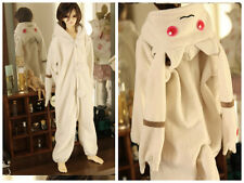 Cute White Pajamas Animal Outfit for BJD 1/6 1/4 1/3 SD Uncle Doll Clothes AL11