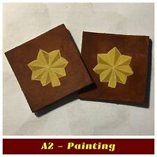 WW2 Hand Painted Majors Insignia For A2 Jacket