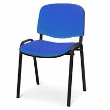 Sedia poltrona attesa conferenza ufficio prodotto colore blu tessuto impilabile