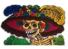 Fiesta Day of the Dead Catrina Dia De Los Muertos Sugar Skull Art Iron on Patch
