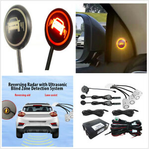 Ultrasonic White 4 Sensor Reversing Assist Safety System Car Blind Spot Monitor