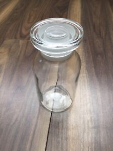 vintage glass apothecary / Lab jars 500ml 12 Available