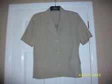 Ladies Short Sleeved Single Breasted Jacket Size 14
