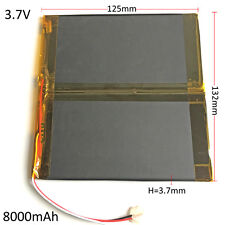 8000mAh LiPo Polymer Rechargeable Battery 3.7V For Tablet PC DVD PAD 37132125