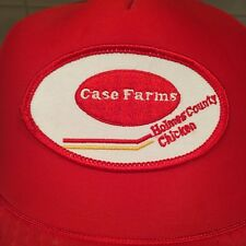 Vintage Case Farms Snapback Baseball Hat Cap Holmes County Chicken Ohio Otto