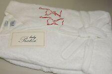 $550 NEW White BABY KIDS PRATESI Embroidery Terry Bath Girls Boys Robe  80 8 10