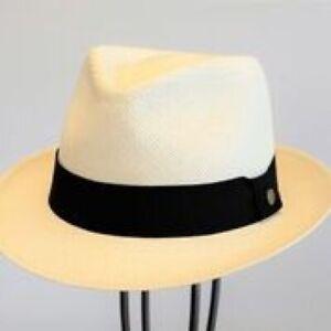 Scippis Original Panama Hut Ambato klassisch100 % Paja Toquilla neu weiß  55 -61