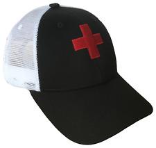 Red Cross Ski Patrol Adjustable Mesh Golf Cap Baseball Caps Hat Hats Ski Black