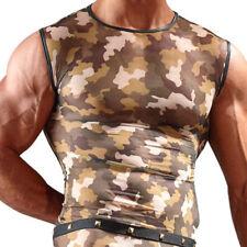 Figurbetonte Herren-T-Shirts mit Motiv und Army