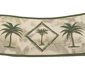 DW Wallcoverings wallpaper border Palm Breeze 4 yards pattern 0476 tree bamboo