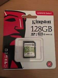 genuine Kingston  128GB SD Card UHS-1 Class 10