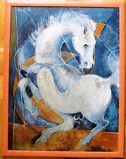 Pferd expressiv TOP! (nach Hans Erni) Ölgemälde  (62x84cm)