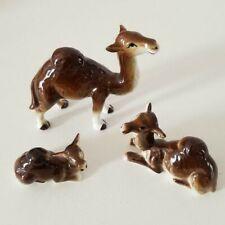 Vintage Miniature Bone China Animal Camel Family