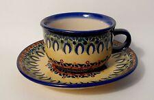 TOP Kaffee / Tee Tasse Untertasse / Unterteller Bunzlauer Keramik 200 ml (ta29)
