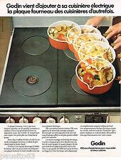 PUBLICITE ADVERTISING 055  1973  GODIN    cuisinière éléctrique