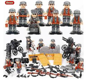 WW2 Armee Soldaten Minifiguren mit Waffen Militärische Sets Fit Weltkrieg