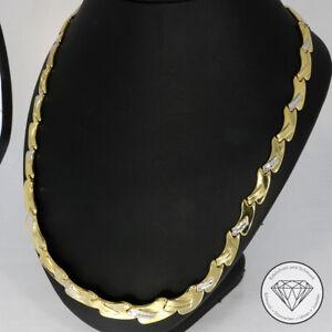 SONDERAKTION WERT 1.320,- Collier Kette 585 / 14 KT bicolor Gold 44 cm XXYY