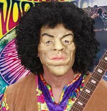King of Woodstock Jimi Hendrix Fancy Dress Foam Latex Face Mask + Hair