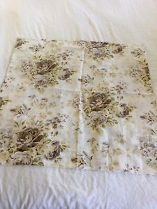 Pottery Barn Hayden Floral Linen Roses  Euro Sham 30.5 x 30.5 Square Yellow