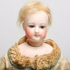 """Antique French Poupee Head Size 3, Leather Body, 16"""", 19th Cent. Gaultier?"""