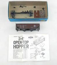 Athearn HO 1335-1 Pennsylvania Oxide Red  2-Bay Flat-End Hopper~Not Built   HO2