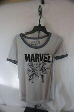 T- Shirt Marvel Comics Super Heros M 7/9 Gray   NWT