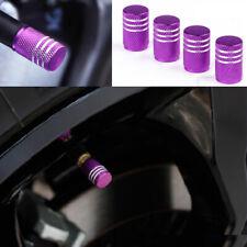 Universal Anodized Aluminum Round Tire Valve Stem Caps Car Accessories 4 Colors