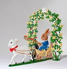 Artist Wilhelm Schweizer German Standing Pewter Zinn - Easter Bunny 2004 SET
