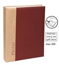 Chapter Einsteckalbum in Bordeaux für 200 Fotos in 10x15 cm Einsteck Foto Album
