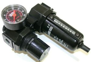 """UP TO 2 ARO AIR REGULATOR R27231-100 FILTER F25231-110 ASSEMBLY 3/8"""" NPT w/ GAGE"""