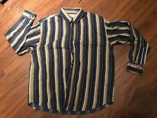Island Republic Men's Button-Down Long Sleeve Striped Shirt, size XL