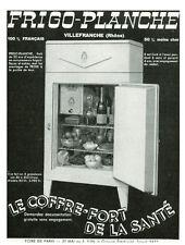 """Publicité Ancienne """" Frigo-Planche   """"   1938"""