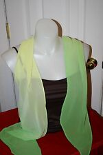 Sheer scarf /sash in VARIGATED  GREENS-VERY NICE CONDITION!!