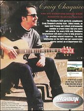 Craig Chaquico Signature Washburn EA26 electric/acoustic guitar 1999 ad print
