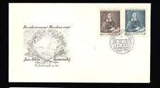 2 Czechoslovakia CESKOSLOVENSKO 1952 Jan AMOS Komensky (1592-1670) FDI Stamps