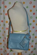 GIANI BERNINI BLUE  handbag  PURSE  CROSSBODY STRAPS phone case  NWOT Chic!