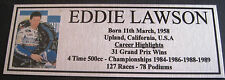 EDDIE LAWSON Sublimated Silver or Gold Plaque