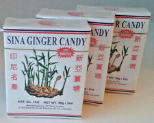 Ginger Chewy Candy  - By Sina,  3 pkg, Foil Wrapped & Sealed, 9pcs per package
