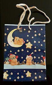 "10 x CHRISTMAS Bags FOREVER FRIENDS BEARS GIFT BAG Medium 8.5"" x 8.5"" x 3"""