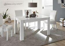 MIRO tavolo 137x90 allungabile Bianco Lucido Serigrafato