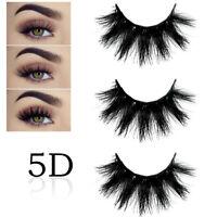 5D vison faux cils wispy Croix long épais doux faux yeux cils