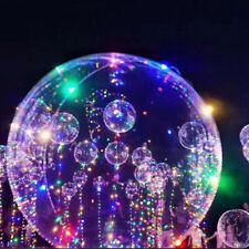 "10 X18""LED Light Up Balloons Transparent Lights Wedding Kid Birthday Party Decor"