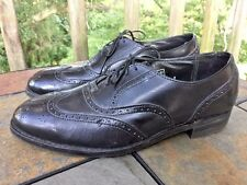 Vintage Royal Imperial Florsheim Wing Tips Oxfords Loafers Mens Shoes Size 9