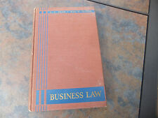 Business Law Skar Palmer McGraw-Hill Book Co. 1942 Hard Cover